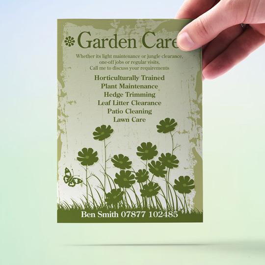 Gardening flyers garden care garden maintenance a6 for Garden maintenance flyers