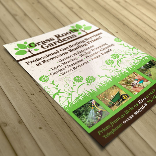 grass roots gardens a5 leaflets