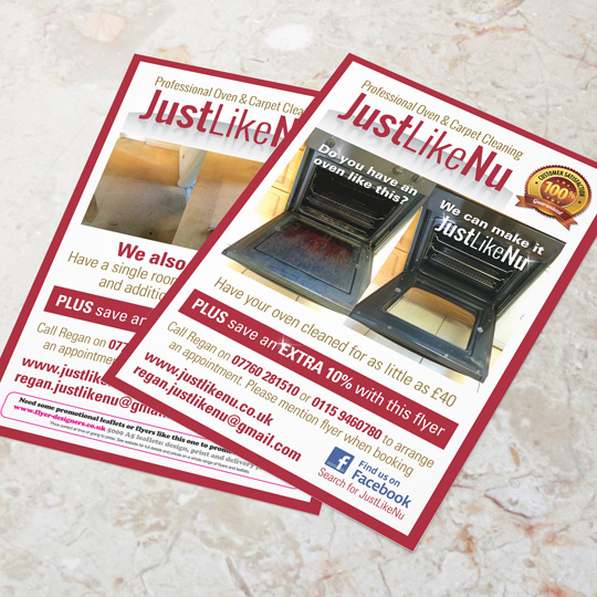 oven cleaning leaflets
