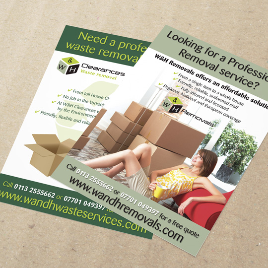 waste removals a5 leaflets